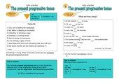The present progressive tense. HS Kl. 5-9