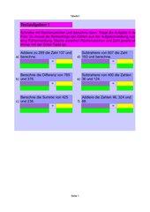 Textaufgaben - Fachausdrücke