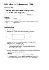 Jahreslosung kreativ gestalten (Sek I)