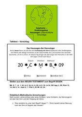 Haussegen der Sternsinger - Dreikönigsfest - Epiphanie