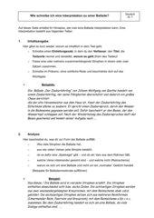 Anleitung für eine Balladeninterpretation