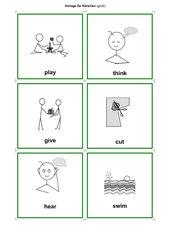 Karten Bild/Wort verbs/Verben