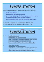 Stationenkarten zum Thema Satzglieder und 4 Fälle