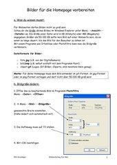 Bildbearbeitung fürs Web mit Photofiltre