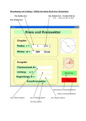 Berechnung Kreis +Kreissektor in Visual Basic