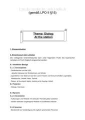 Englisch Dialogstunde