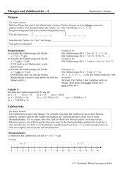Darstellung von Mengen am Zahlenstrahl