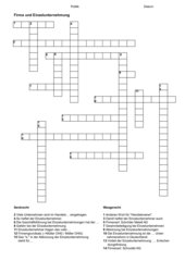 Kreuzwort-Firma+Einzelunternehmung