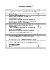 Jahresplanung für den Unterricht Klasse 8 Niedersachsen