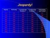 Jeopardy zu Lernfeld 11, Fleischerei heute