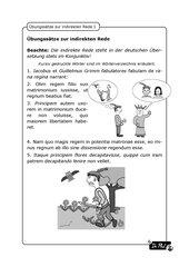 Oratio obliqua: Illustrierte Übungssätze (Froschkönigin)