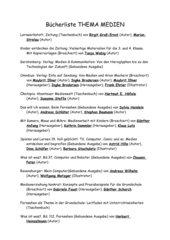 Bücher- und Medienliste zum Thema