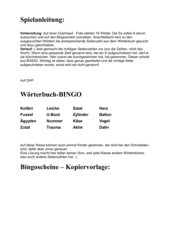 Wörterbuch-Bingo