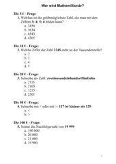 Wer wird Mathemillionär?