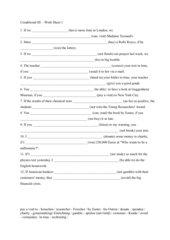 Conditional III - Work sheet