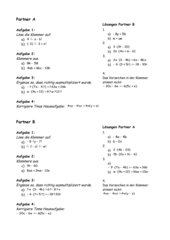 Tandembogen - Terme/Distributivgesetz