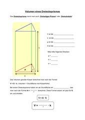 Dreiecksprisma - Volumen