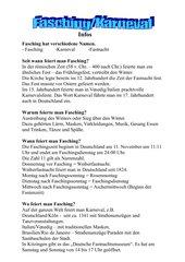 Karneval-Fasching-Info