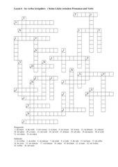 Unregelmässige Verben - präsens- Kreuzworträtsel
