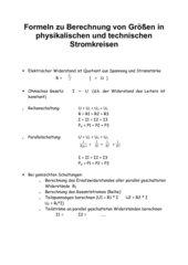 Berechnungen in einfachen Stromkreisen