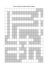 Kreuzworträtsel zum literarischen Erzählen