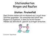 Stationskarten zum Ringen und Raufen