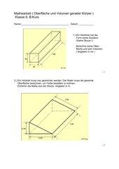Gerade Körper - Oberflächen- und Volumenberechnungen