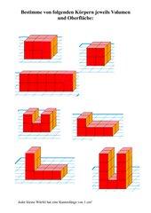 Volumen/ Oberfläche von zusammengesetzten Körpern