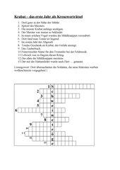 Krabat - Kreuzworträtsel zum 1. Jahr