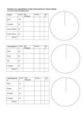 Anfertigen von drei Kreisdiagrammen