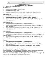 Grammatiktest-Klasse 7 HS- Zeitformen