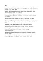 Quiz mit Qu-Wörtern