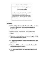 Bewerbung - Ausbildungsplatz - Zeitungsanzeige