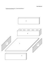 """Bauplan für eine """"Schreibtischbutler""""  (Stiftehalter)"""