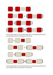 Mathewürfelspiel Punkt vor Strich Klammern