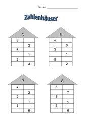 Zahlenhäuser, 1. Klasse