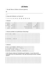 LZK Mathe Klasse 4