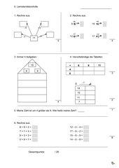 Lernstandskontrolle Mathematik Klasse 1