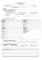 Bewertungsbogen Erörterung