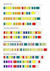 Spiel mit Boomwhackers - Farbpartitur