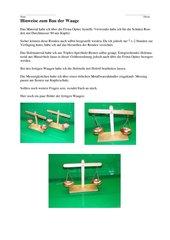 Bau einer Balkenwaage