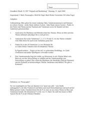 J. S. Bach - Passacaglia c-Moll BWV 582 (ohne Fuge) Klausur