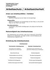 Zusammenfassung Arbeitsschutz Friseure Grundlagen Berufsvorbereitung