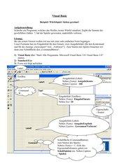 Würfelspiel in Visual Basic