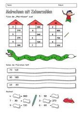 Arbeitsblatt Multiplikation mit Zehnerzahlen