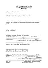Geografie- Fragebogen