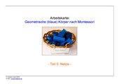 geometrische (blaue) Körper nach Montessori (Teil 5 - Netze)