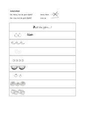 Alphabetisierung Lebensmittel - Autogrammspiel