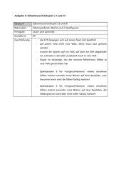 Alphabetisierung -  Silben-Lese-Schreib-Spiel
