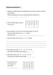 Zahlenknobeleien 2